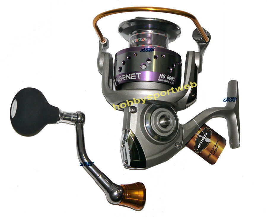 MULINELLO ECOODA HORNET HS - 8000 - HS SPECIALE MARE  BOLENTINO SPINNING BARCA 1a15dc