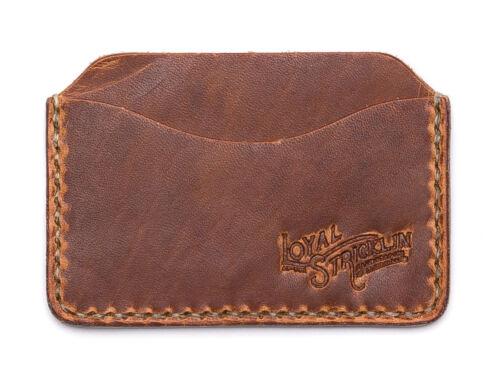 American Man Made Mens Leather Slim Wallet Card Case Brown Black