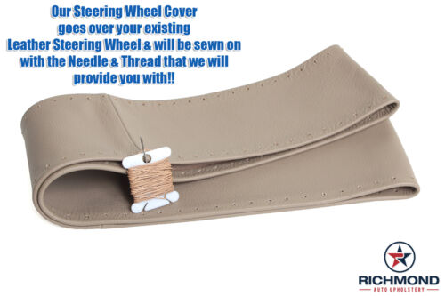 2000 Ford F250 Lariat F-250 TAN Leather Steering Wheel Cover w//Needle /& Thread