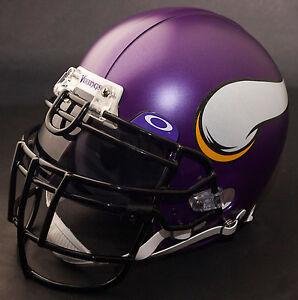 Image is loading MINNESOTA-VIKINGS-NFL-Authentic-GAMEDAY-Football-Helmet-w- 1aba6dcdb