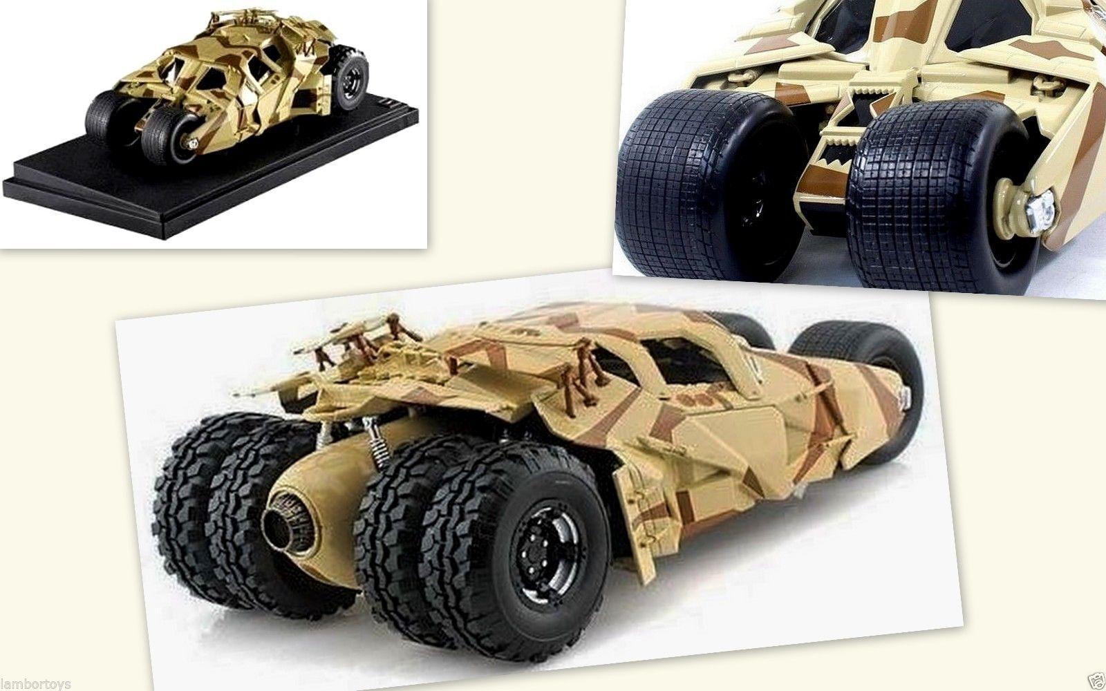 Batman Mobile The Dark Knight Rises Movie Car Khaki Camo 1 18 Scale Model Auto