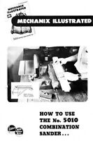 Atlas How To Use The No. 5010 Combination Sander Instructions