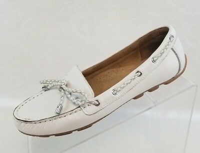 Womens Shoes White Mountain SURF Flats Loafers Driving Moccasin Black Leather