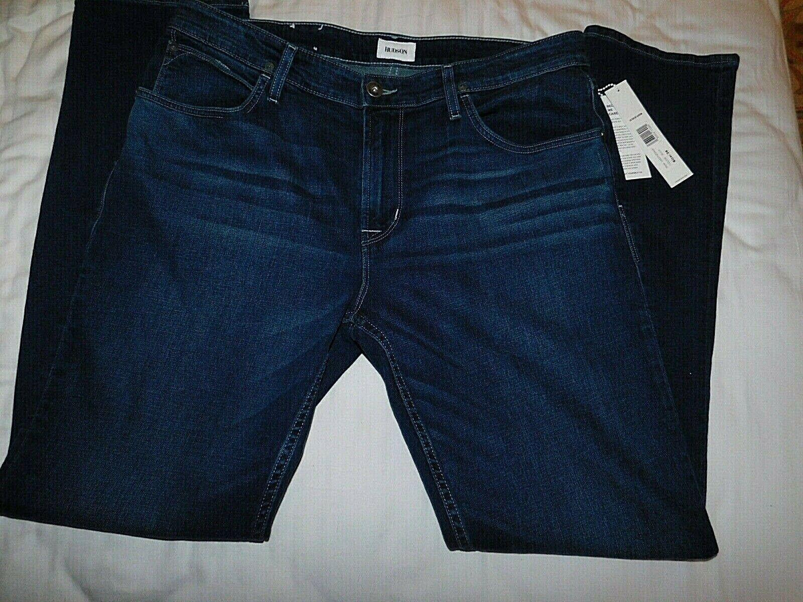 Hudson Jeans Mens Byron Baby Blue Straight Leg 38 Blue