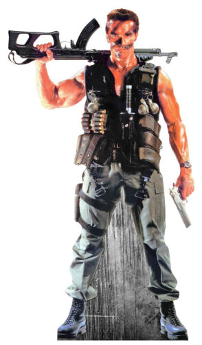 Arnold Schwarzenegger Lifesize Karton Ausschnitt 80s Aktion Film Hero Soldat