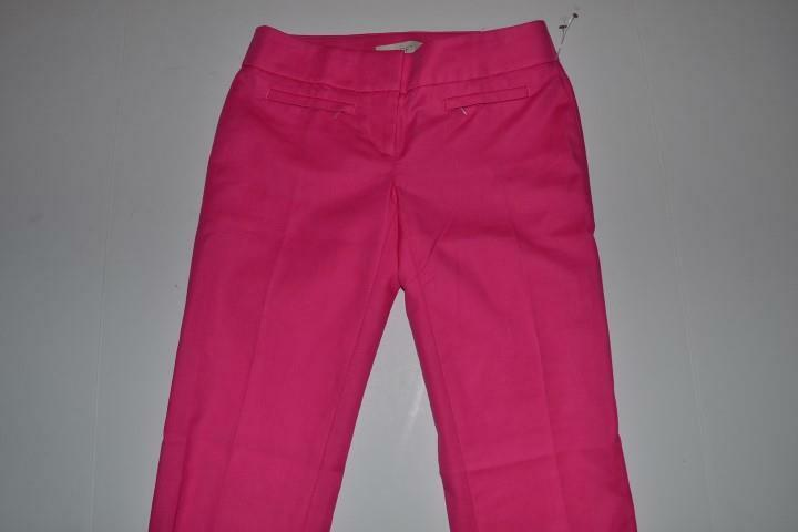 ANN TAYLOR LOFT PINK DRESS PANTS WOMENS SIZE 00 NEW