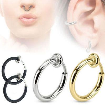 Un piercing anneaux nez sans perçage
