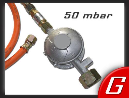Schlauchbruchsicherung 50 mbar Gewerbe-Regler Druckminderer, Gasregler