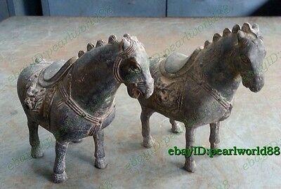 Antiques Favorites Lucky a pair horse ancient statues Bronze statue