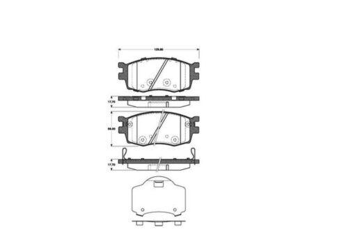 4x Bremsbeläge Bremsbelagsatz Klötze Vorne für Hyundai i20 Accent 3 Kia Rio 2