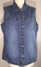 Women's Plus Size 2 Denim Faded Jean Vest by Chico's