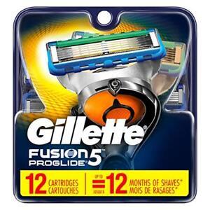 Gillette-Fusion5-ProGlide-Men-039-s-Razor-Blades-12-Blade-Refills