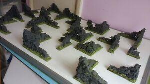 20-Antiche-Rovine-28mm-PAESAGGIO-terreno-LOTR-WARHAMMER-verniciato-EPICO-40k-giochi-di-guerra