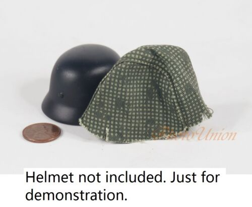 1:6 Scale Action Figure WW2 German M35 M42 Helmet Cover Forest Camouflage DA218