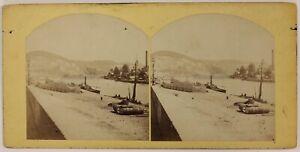A-Identificare-Paesaggio-Fiume-Foto-Stereo-P28T4n26-Vintage-Albumina-c1865
