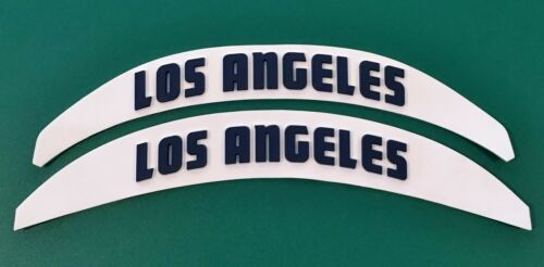 LOS ANGELES 3D BUMPERS HELMET DECALS RIDDELL SCHUTT 3-D RAMS FOOTBALL LARGE FULL