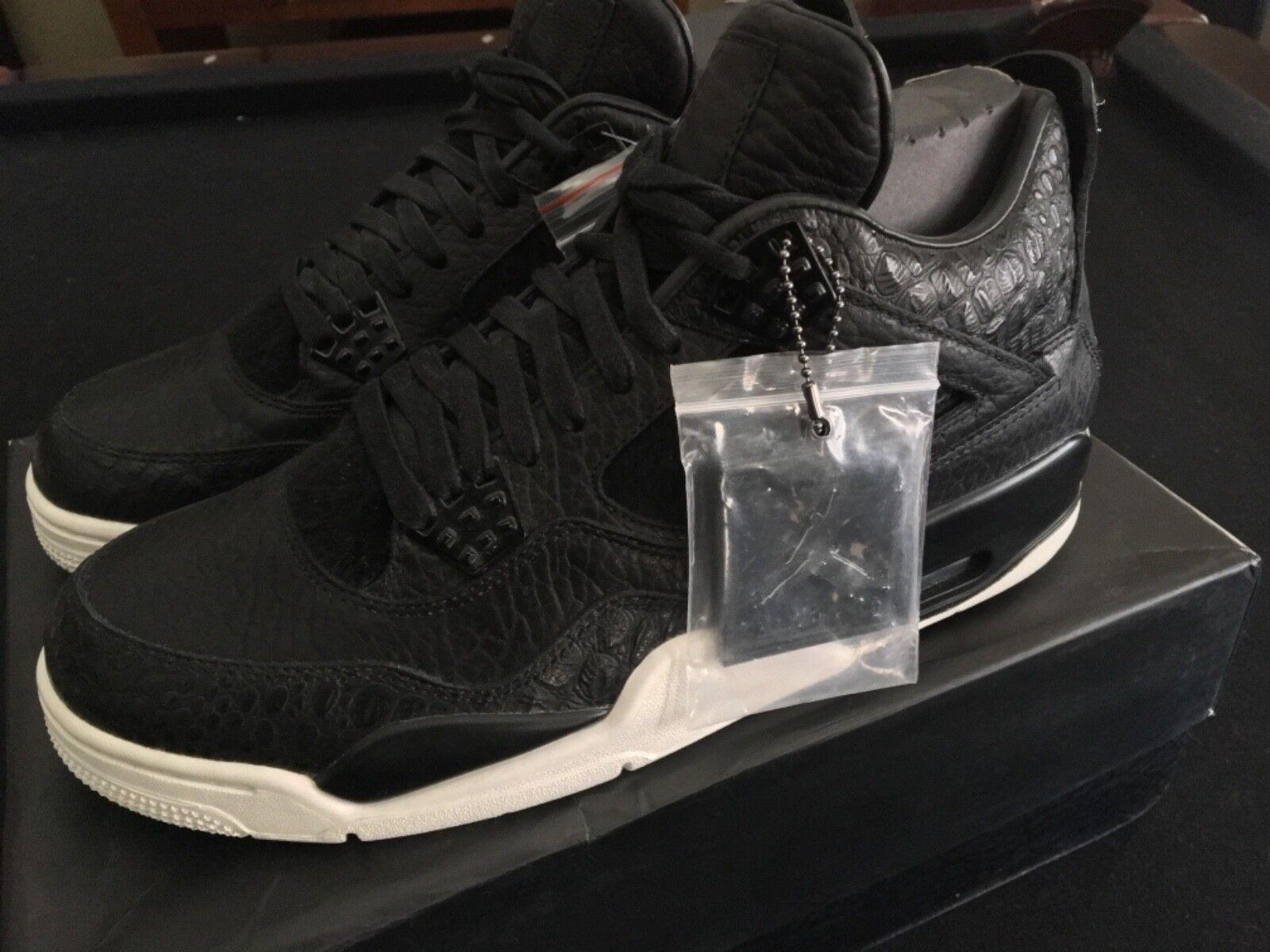 Nike Air Jordan 4 IV Retro Premium Black Pony Pinnacle 819139-010 Size 10.5