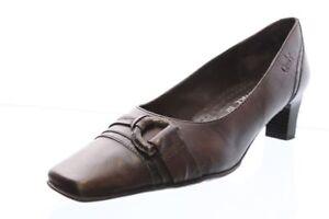 Caprice-Pumps-braun-Leder-Schuhweite-G-Applikation-Gr-37-5-UK-4-5