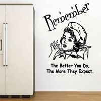 The More They Expect Decal Vinyl Wall Sticker Art Home Sayings Popular