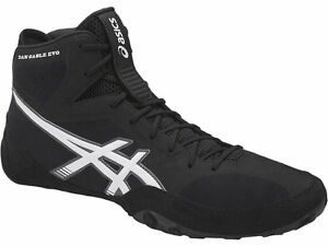 Asics-DAN-GABLE-EVO-Men-039-s-J700Y-9001-Black-White-Carbon-Wrestling-Shoes