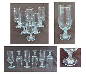 Drinking Glass Goblets 12 oz Clear Glass TWISTED STEM 6-Piece Set