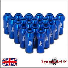 BLOX FORGED ALLOY WHEEL NUTS 52MM M12x1.25 fit SUBARU NISSAN SUZUKI PEUGEOT BLUE