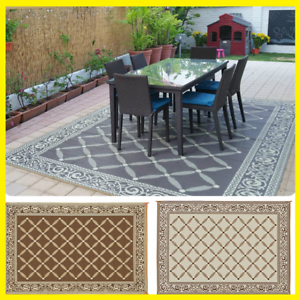 Indoor Outdoor Patio Mat Rv 9 X12 Reversible Camping Picnic Carpet