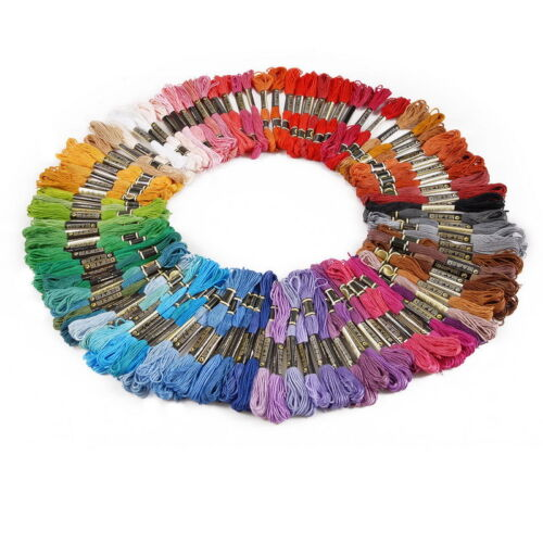 36//50Pcs Cotton Embroidery Thread Cross Stitch Multicolor Floss Sewing Skeins