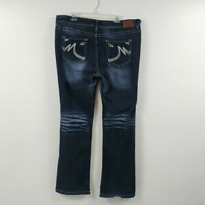 Maurices-Womens-Jeans-Size-20-Long-Measures-40x34-5-Straight-Low-Rise-Dark-Wash