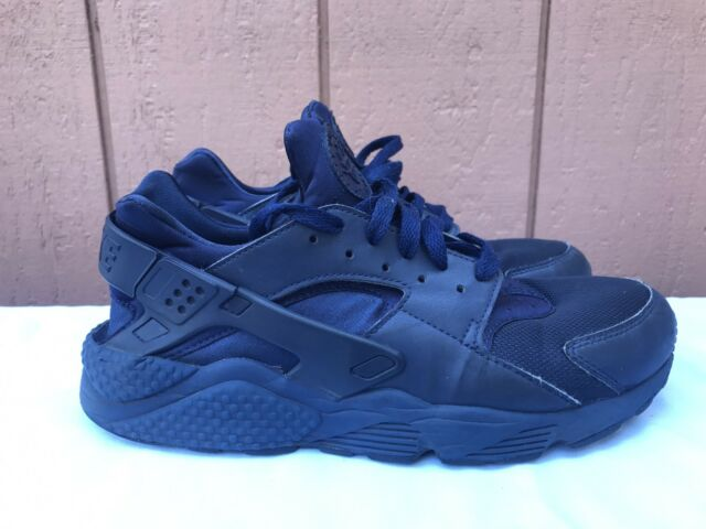 381e1a6bff9 Nike Air Huarache Men s US 10.5 318429-440 Midnight Navy Athletic Running  Shoes