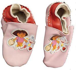 Dora-The-Explorer-Leather-Slippers-Footlets-Pink-Nick-Jr-Sz-7-8-Planet-Sox