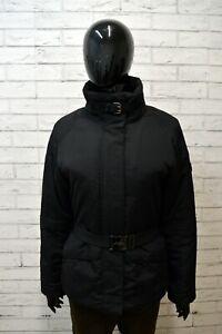 Parka-Nero-Giubbotto-Donna-ASICS-Taglia-Size-M-Giacca-Con-Cintura-Jacket-Woman