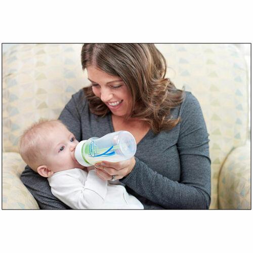 Dr Brown opciones Cuello Ancho anti-cólico recién nacido bebé los biberones Set Y Tetinas