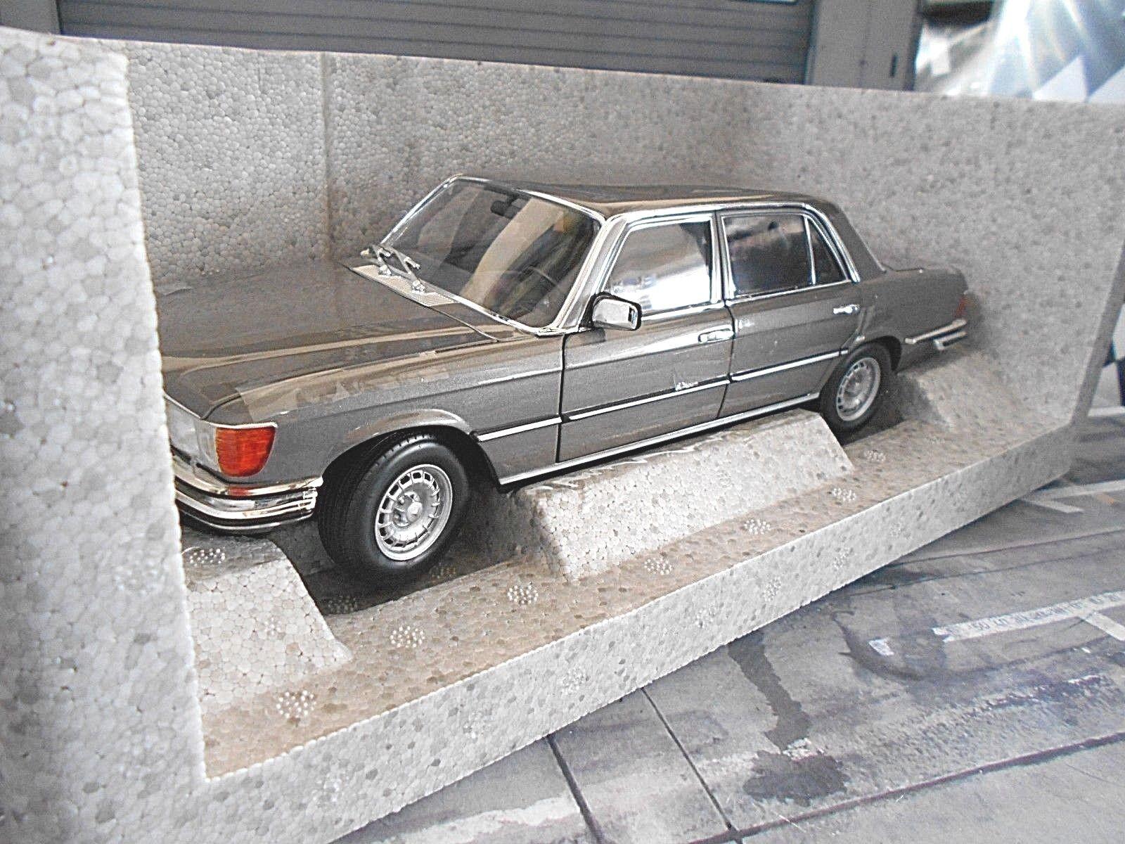 Mercedes benz clase s w116 450 sel 6.9 1976 gris Gris met. norev nuevo 1 18
