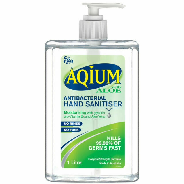 Ego Aqium Antibacterial Hand Sanitiser With Aloe | Stay At Home Mum