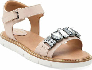 68a7b54d1c6e6 Image is loading Womens-Clarks-Lydie-Joelle-Nude-Leather-Gladiator-Crystal-