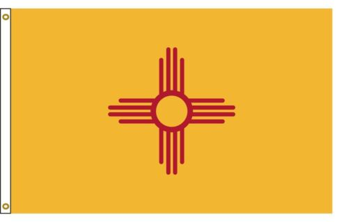 State of New Mexico Flag 3x5 FT 150D House Banner Super Polyester Grommets