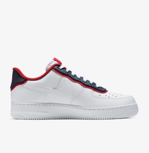 the best attitude for whole family reasonable price Details about Nike Air Force 1 '07 Low LV8 1 White Obsidian University Red  AO2439-100 Uptown