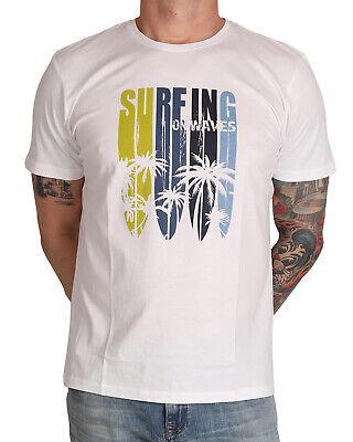 Herrlich Marvelis Herren T-shirt 6606-32-00 R-a Bedruckt Weiß
