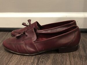 a784aae0a66b6 Details about VINTAGE BALLY MENS SHOES SZ 9.5 OX BLOOD LOAFER