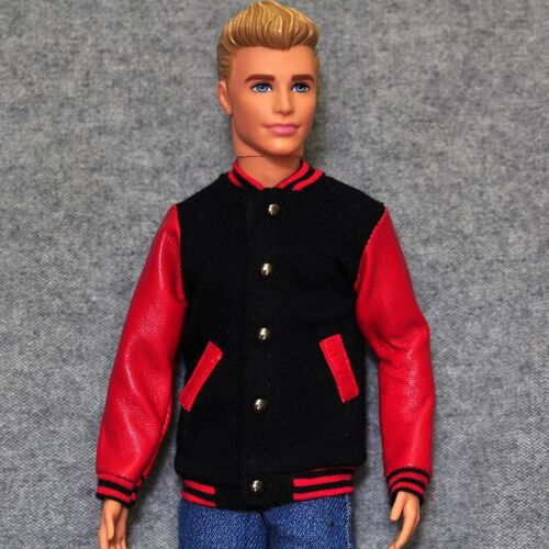 """Handmade doll Baseball leather sleeves Jacket clothes for  12/""""  ken dolls"""