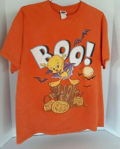 Vintage-looney-Tunes-Tweety-Halloween-BOO-Shirt