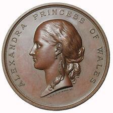1864 Great Britain Princess Alexandra Little Boys Home Hunbury Prize Medal Wyon