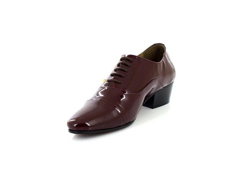 Herren Lace Lucini Burgundy Patent Leder Lace Herren Up Cuban Heel Schuhes 1a61ea