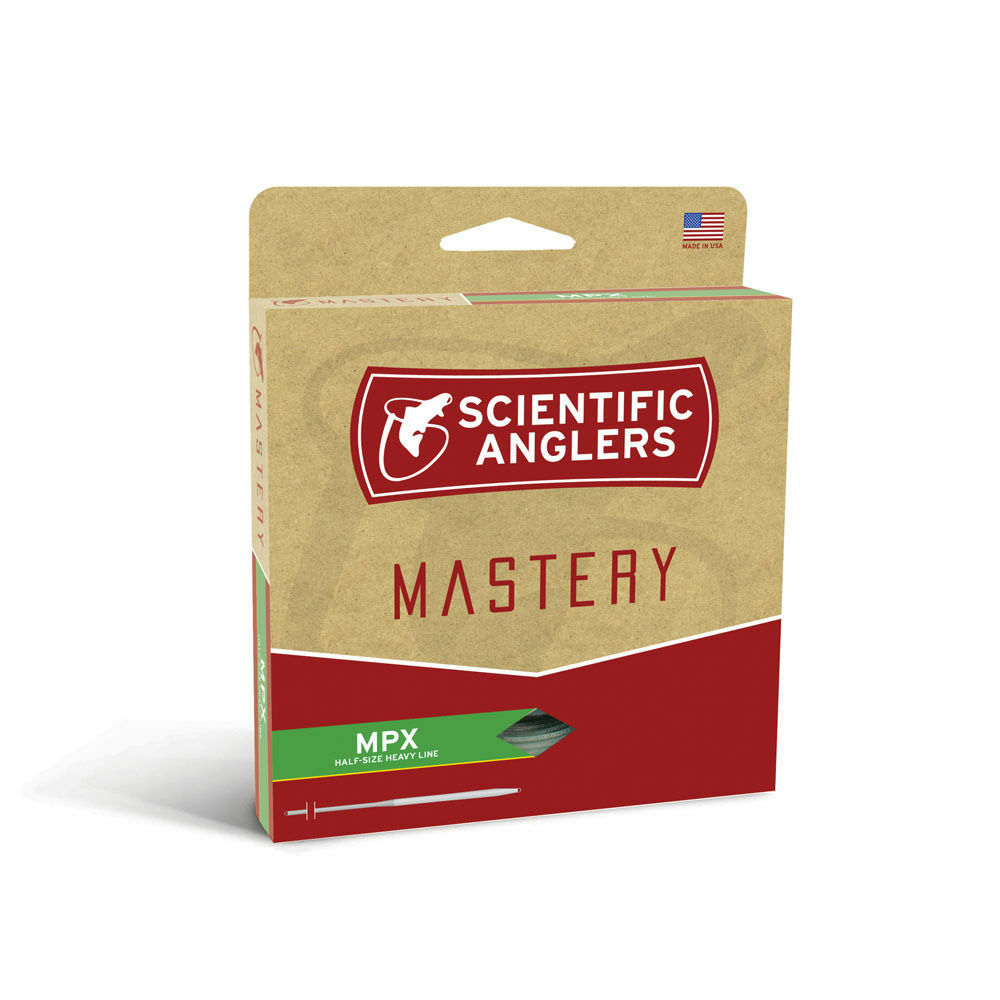 SCIENTIFIC ANGLERS MASTERY MPX WF4F  4 WEIGHT FLY LINE BUCKSKIN  OPTIC verde