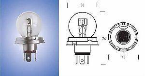 2 Nuovo di Zecca x 423 P45t 6 V 45//40 WATT LAMPADINA DEL FARO CLASSIC AUTO MOTO