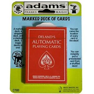 Deland's Marked Deck - Red - SS ADAMS - Magic Tricks - Delands - New