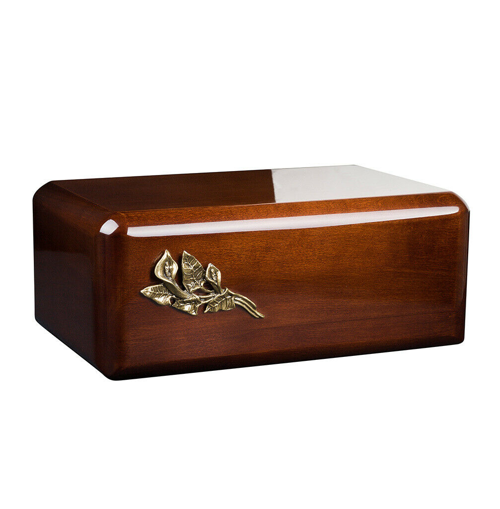 Wooden Urn for Adult Cremains Unique Memorial Funeral urn for Human Ashes or Pet