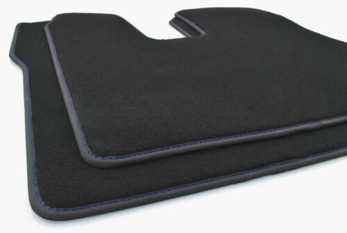 azules ziernaht alfombra coche tuning accesorios 2 piezas Nuevo camión tapices MAN TGX