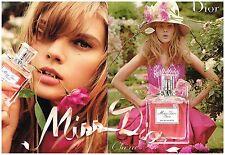 """Publicité Advertising 2010 (2 pages) eau de Toilette """"Miss Dior Cherie"""""""